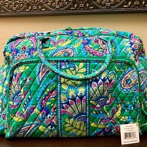 ~Retired 2015 pattern: Emerald Paisley~ travel bag